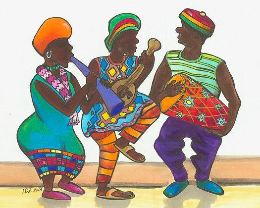 Three Ethiopian Musicians