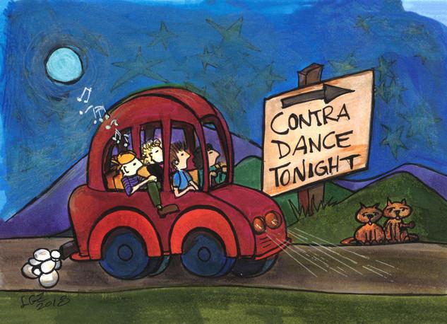 Contra Dance Tonight With Kitties