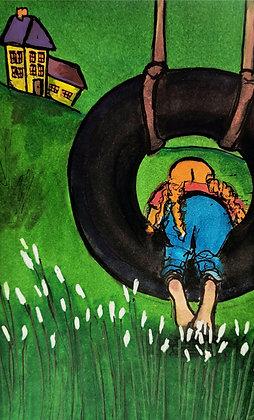 Girl In A Tire Swing - Original Work