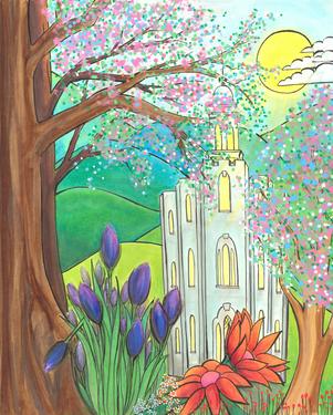 Temple in Springtime