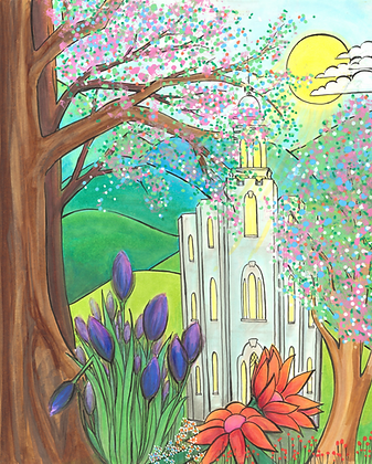 Logan Temple in the Springtime