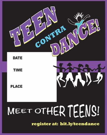 Teen Contra Dance Flyer