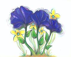Purple Flowers Dancing