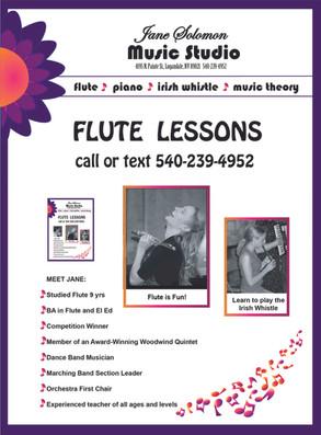 Jane's Flute flyer