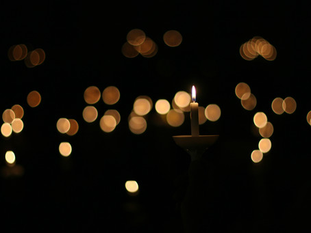 A Beautiful Candlelight Service for their Neighbors at Christmas