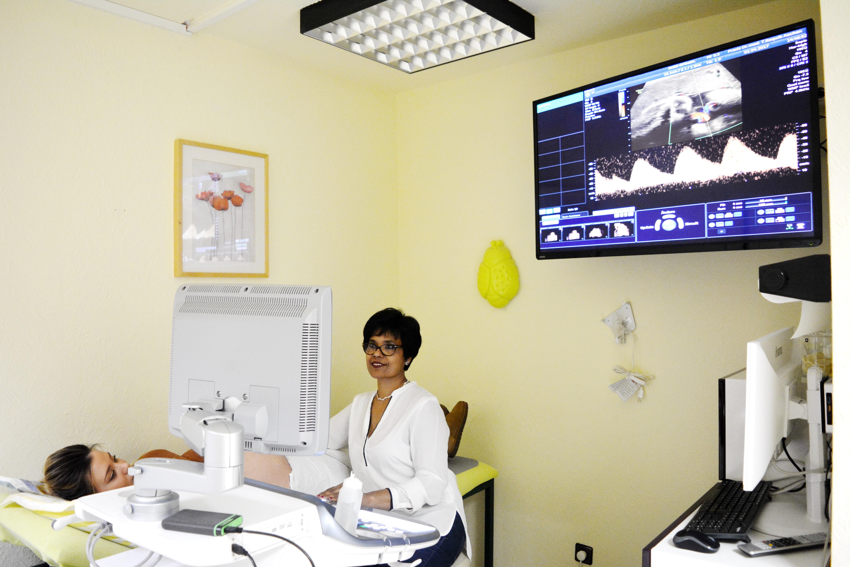 Ultraschall auf der großen Leinwand