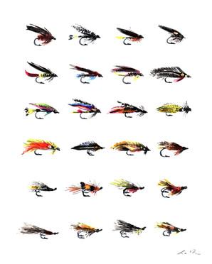 Fishing Flies by Laura Row