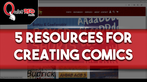 YouTube - 5 Resources for Creating Comics