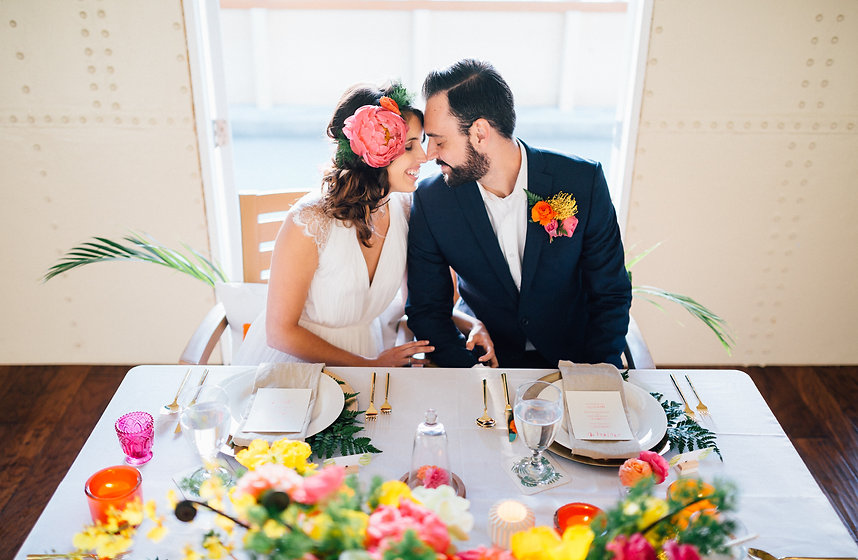 Tropical Ferry Boat Wedding