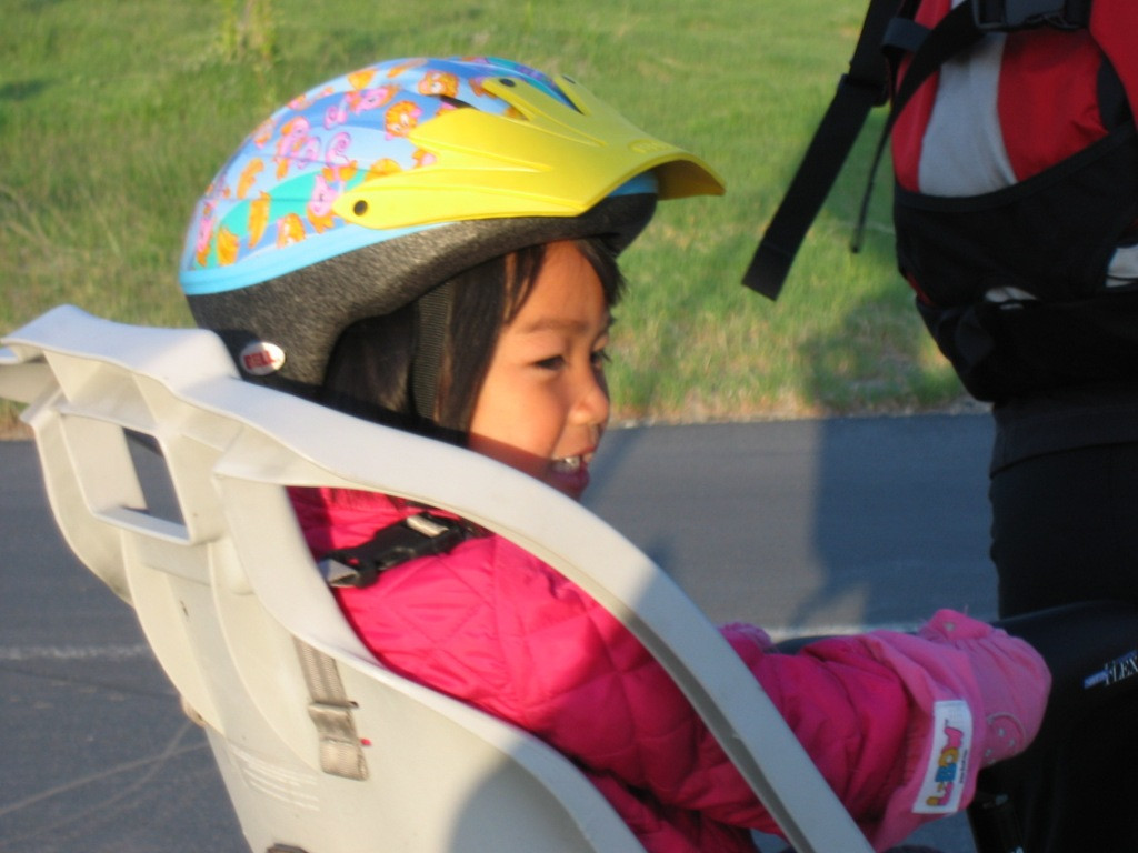 No one is too young to enjoy a bike ride!