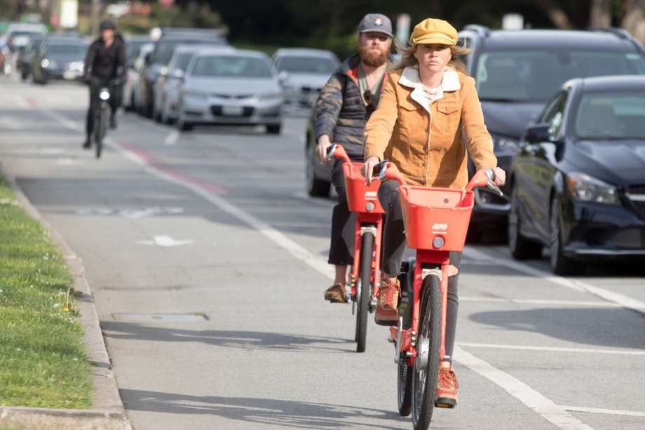San Francisco residents use bike share during COVID-19 outbreak.