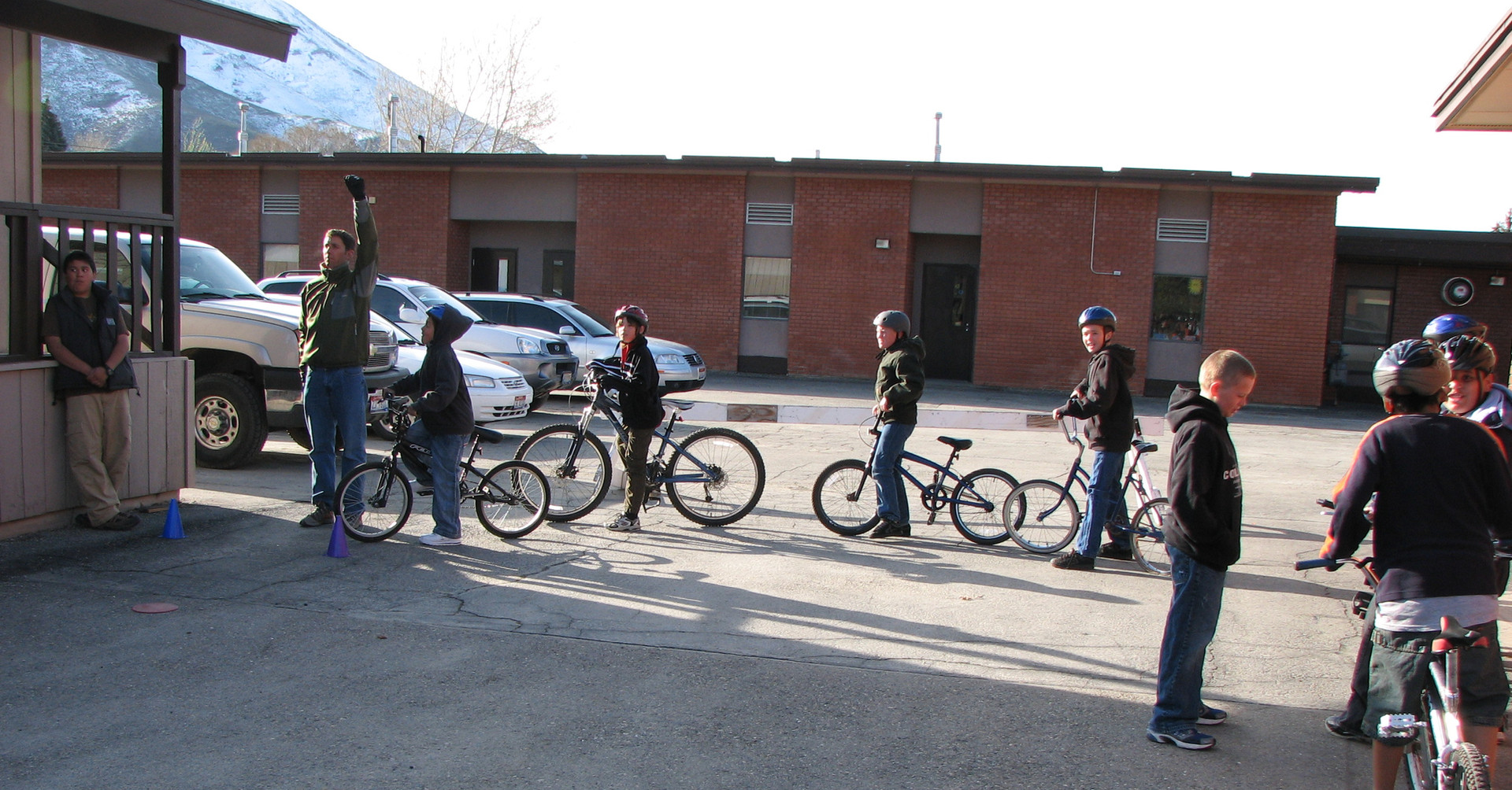 Bicylce safety and riding skills practice