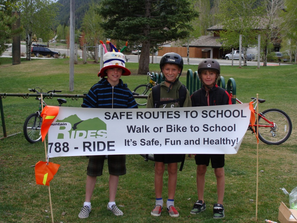 A pic from our semiannual Walk or Bike to School Day