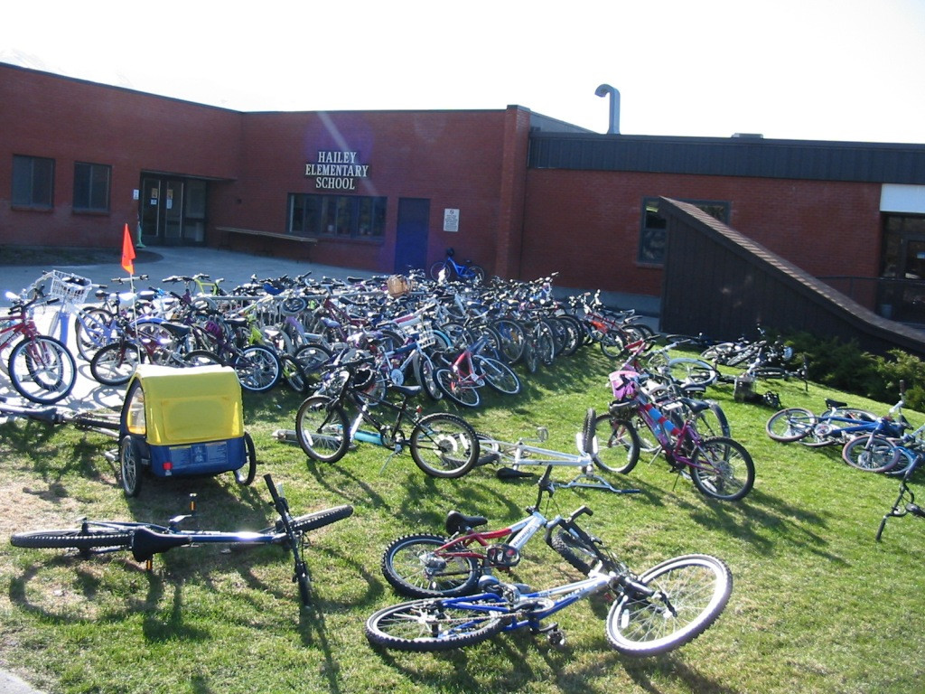 Hailey Elementary, a bike-friendly school!