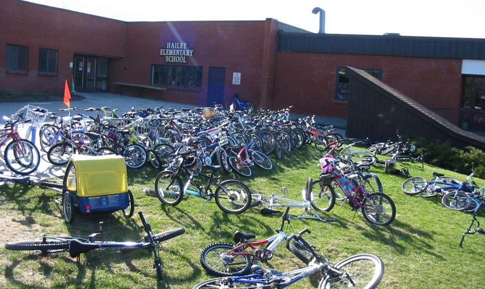 Hailey Elementary, a bike-friendly school!