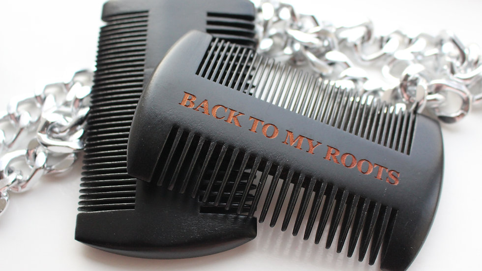 Back To My Roots Wooden Beard Comb (Black)
