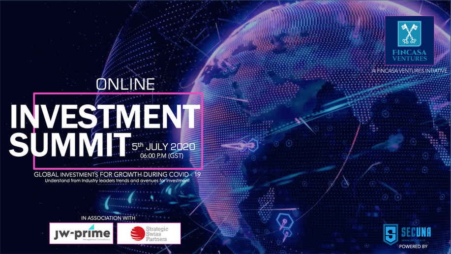 Fincasa Announces Global Online Investment Summit