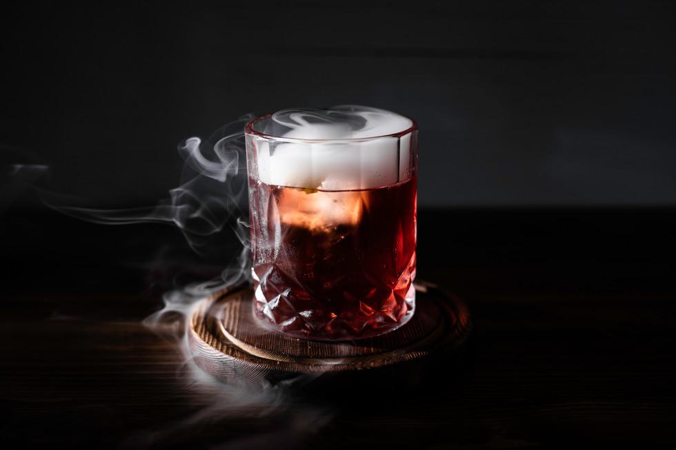Smoked Negroni, Berimbau Kitchen NY