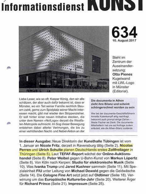Informationsdienst Kunst 170811 Bericht