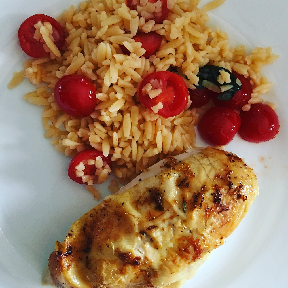 Saffron's Table: Lemon Roasted Chicken with Orzo