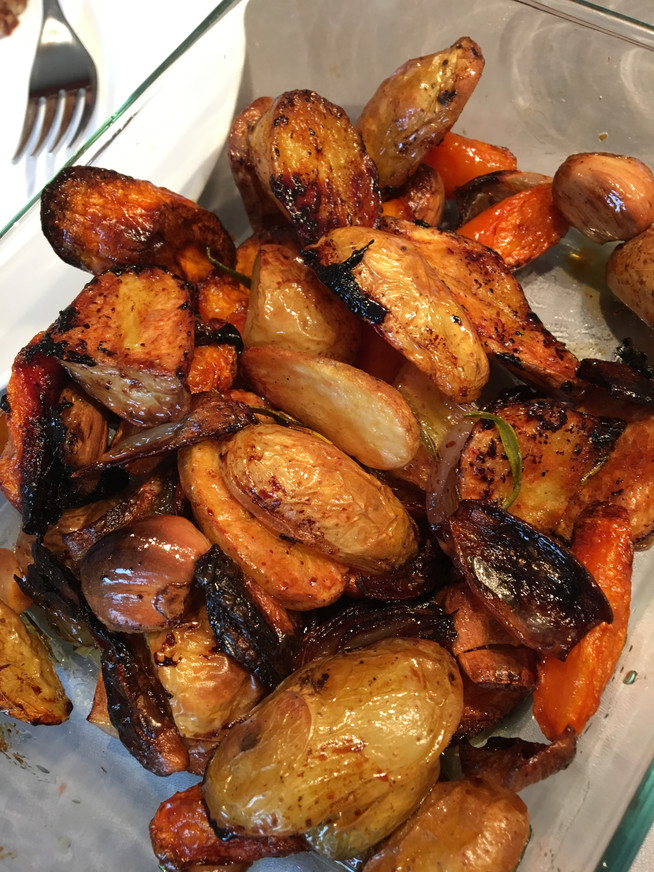 Chicken with Roasted Carrots and Potatoes