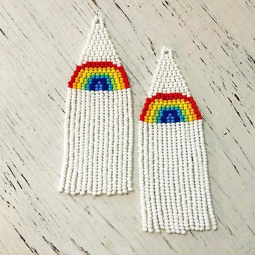 Long Rainbow Fringe (made to order)
