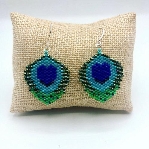 Peacock Earrings (preorder)