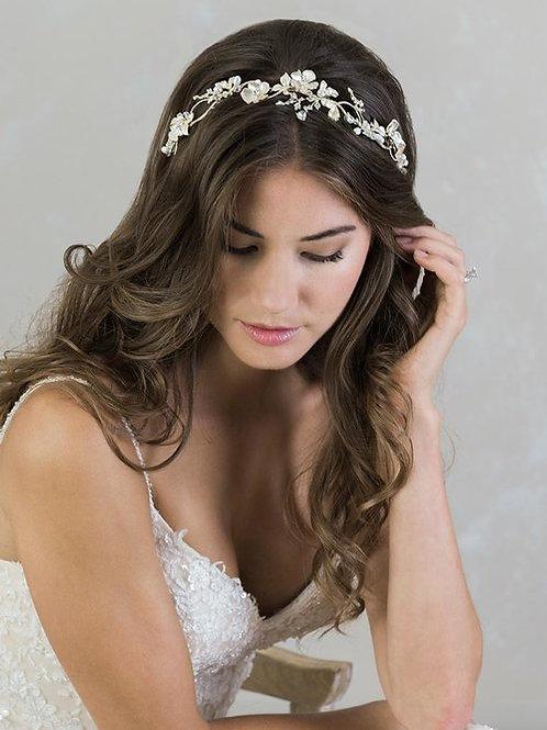 Floral Gold Headband - BA6800
