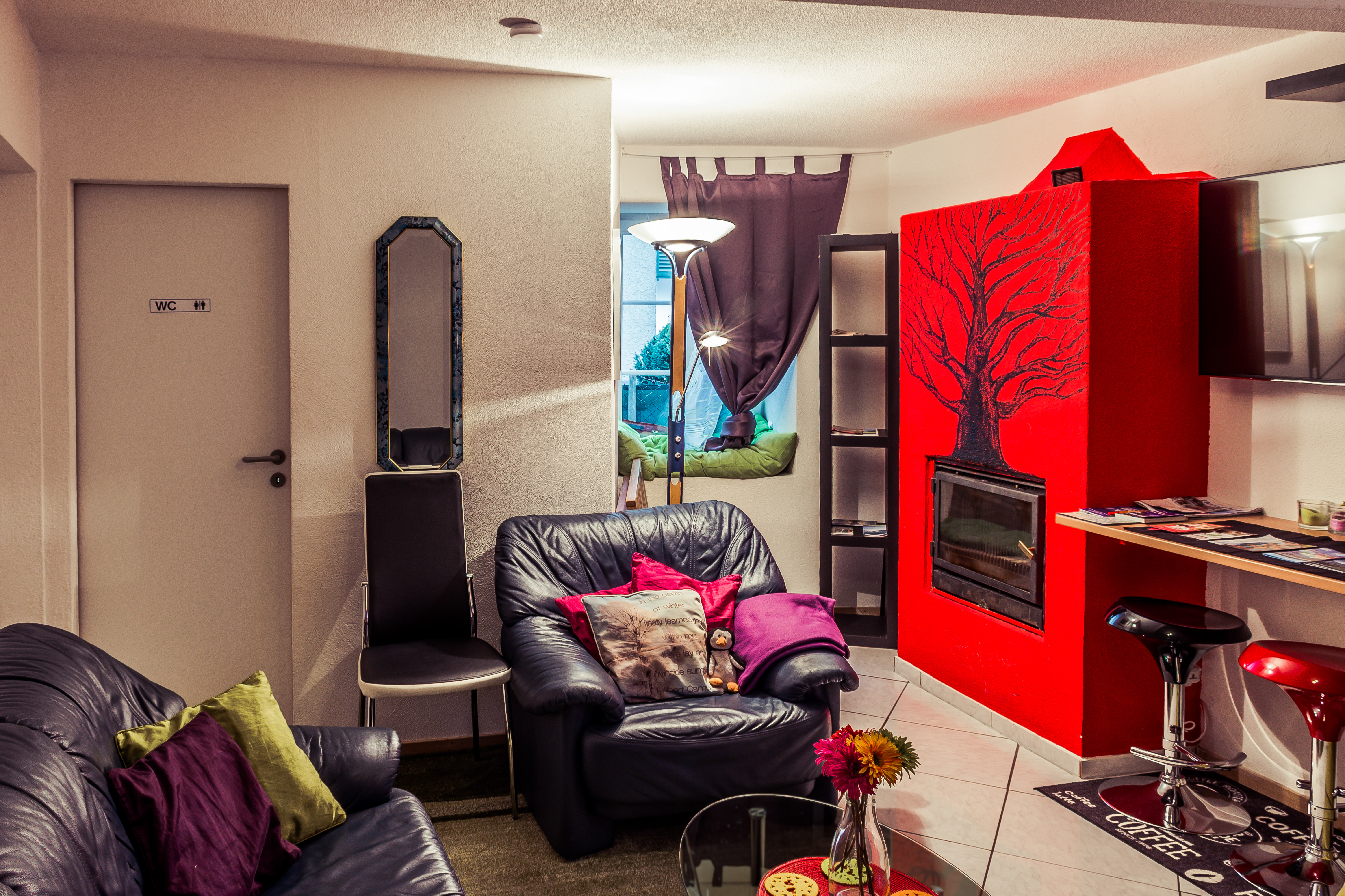 Red fire place-5