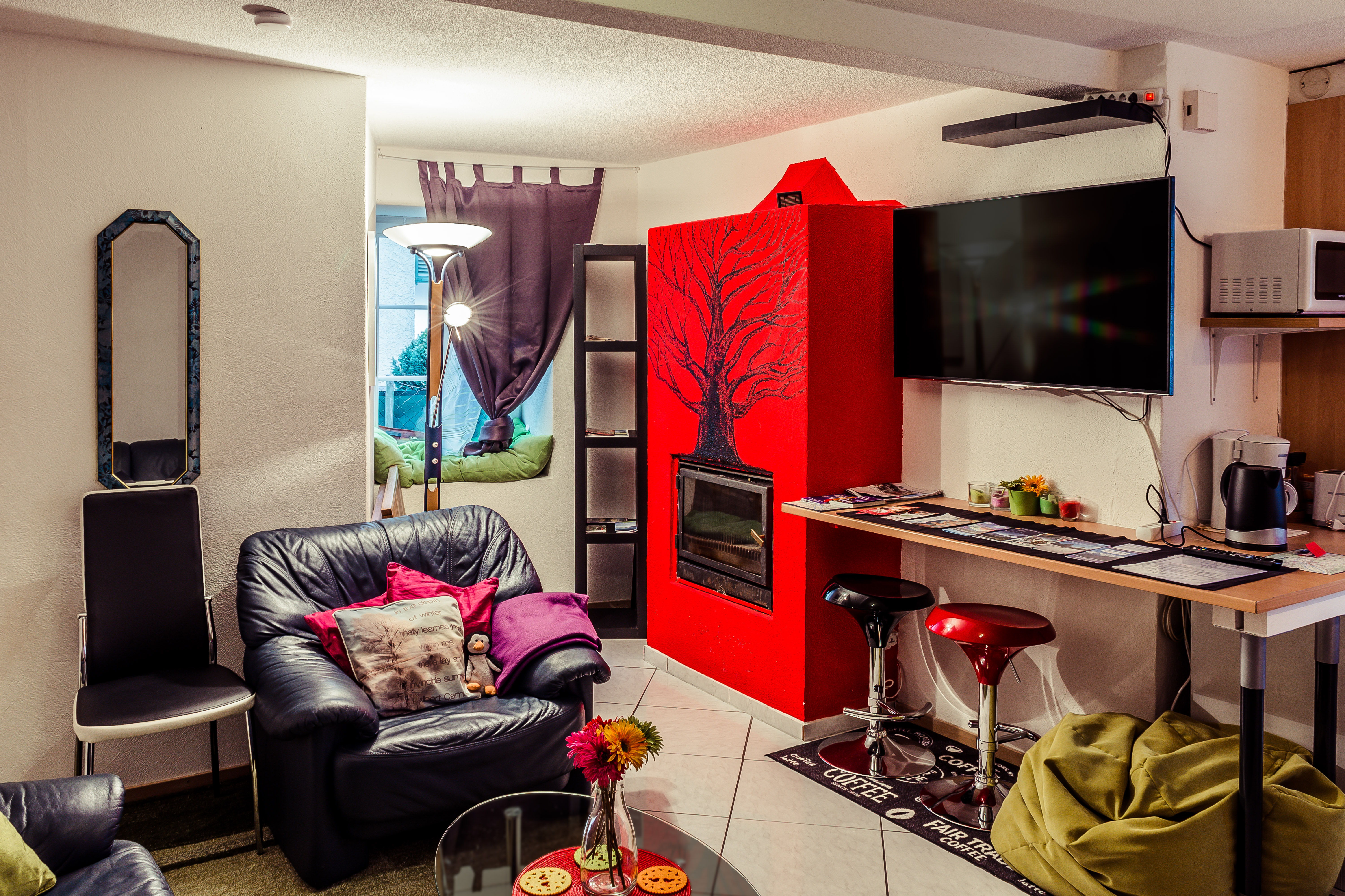Red fire place-7