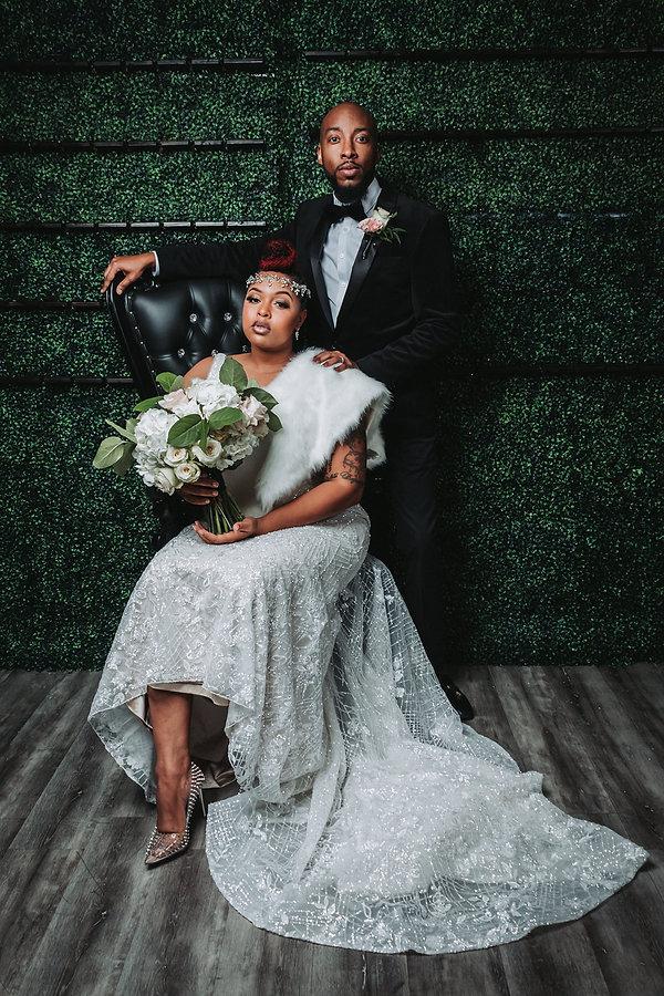 Black bride amd groom