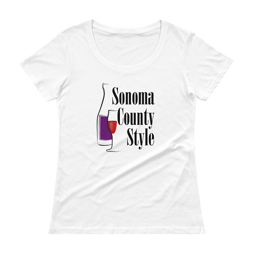 SC Bottle Womans Scoopneck T-Shirt