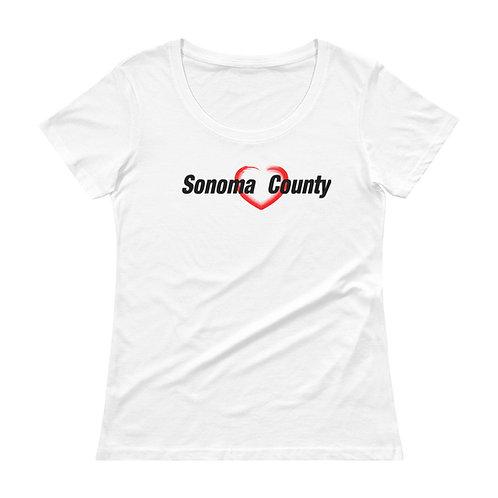 I Heart Womans Scoopneck T-Shirt