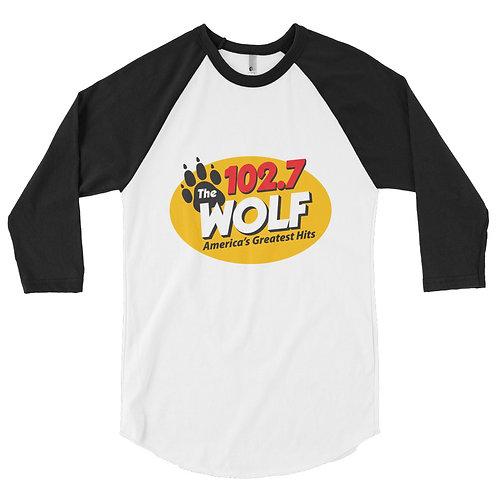 WOLF 3/4 sleeve raglan shirt