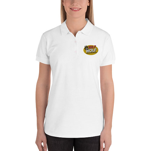 WOLF Embroidered Women's Polo Shirt