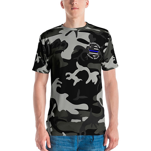 SUPPORT LOCAL POLICE CAMO Men's T-shirt