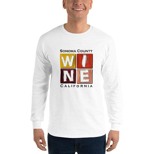 WINE BLOCK Long Sleeve Shirt