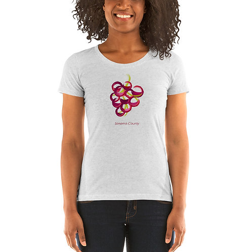 Painted Grapes Ladies' short sleeve t-shirt
