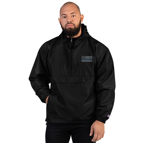 BLUE LINE Embroidered Champion Packable Jacket