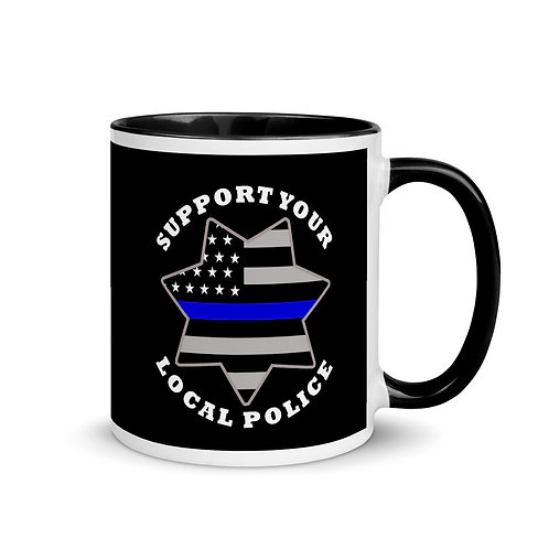 Support the Police Mug with Color Inside