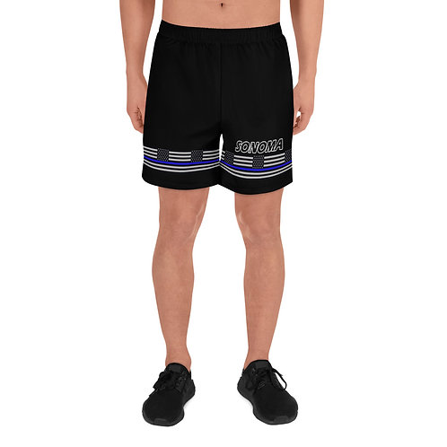 SONOMA COUNTY BLUE LINE Men's Athletic Long Shorts