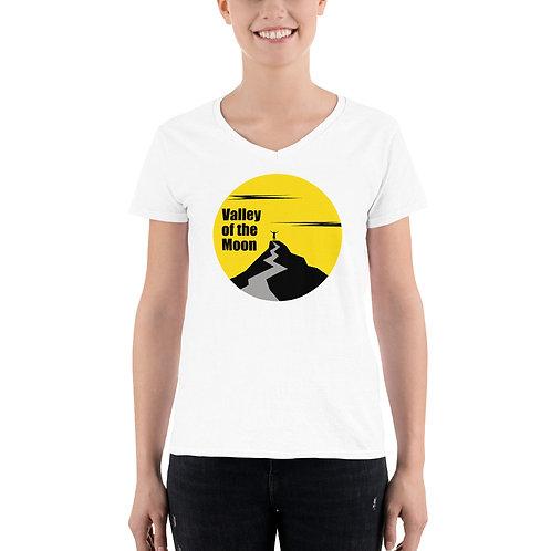Moon Women's Casual V-Neck Shirt