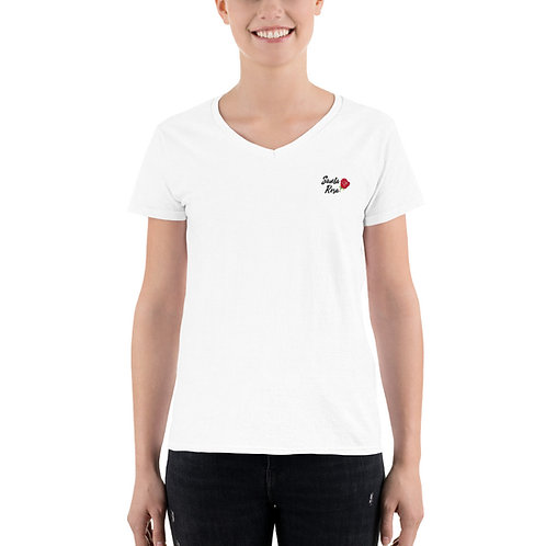 ROSE Women's Casual V-Neck Shirt