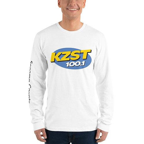 KZST White Unisex Long sleeve t-shirt