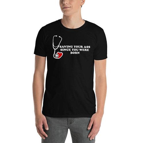 SAVING YOUR ASS Short-Sleeve Mens T-Shirt