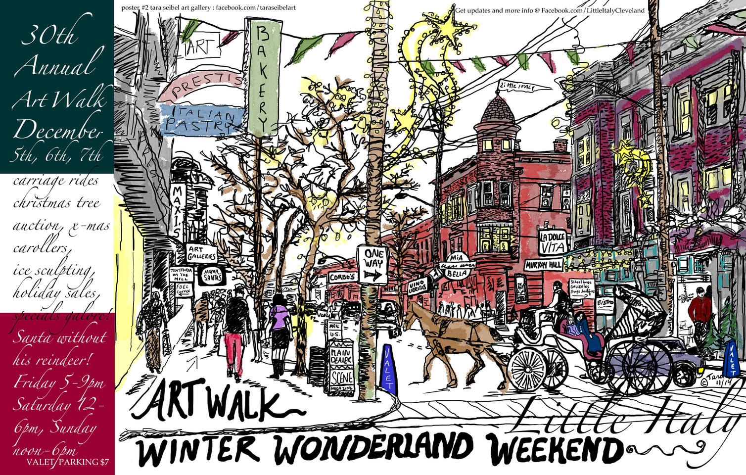Winter Art Walk Poster