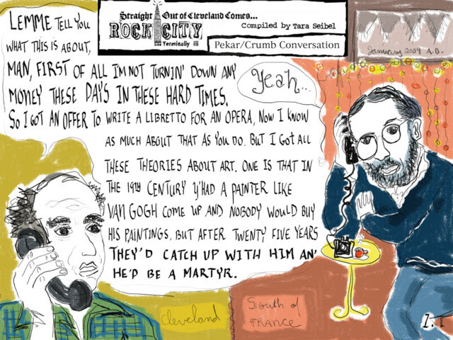 Pekar & Crumb, Talk'n' 'bout Art (adapted from conversation on stage at Oberlin)