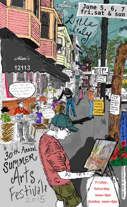 Little Italy Art Walk Poster