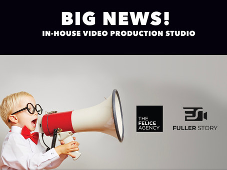 Our new in-house video production studio