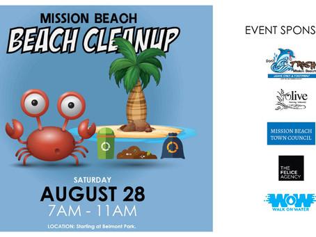 August 28 Beach Clean Up